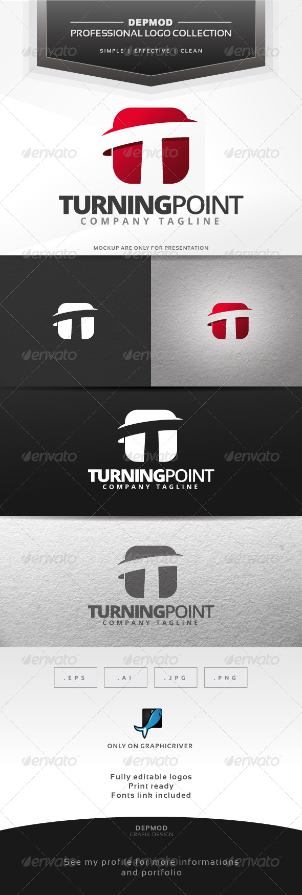 GraphicRiver Turning Point Logo 6619290