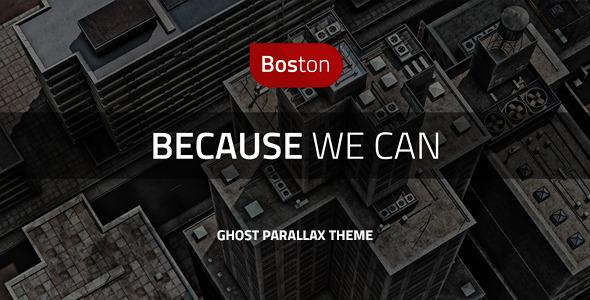 ThemeForest Boston Corporate Parallax GHOST Template 6619436