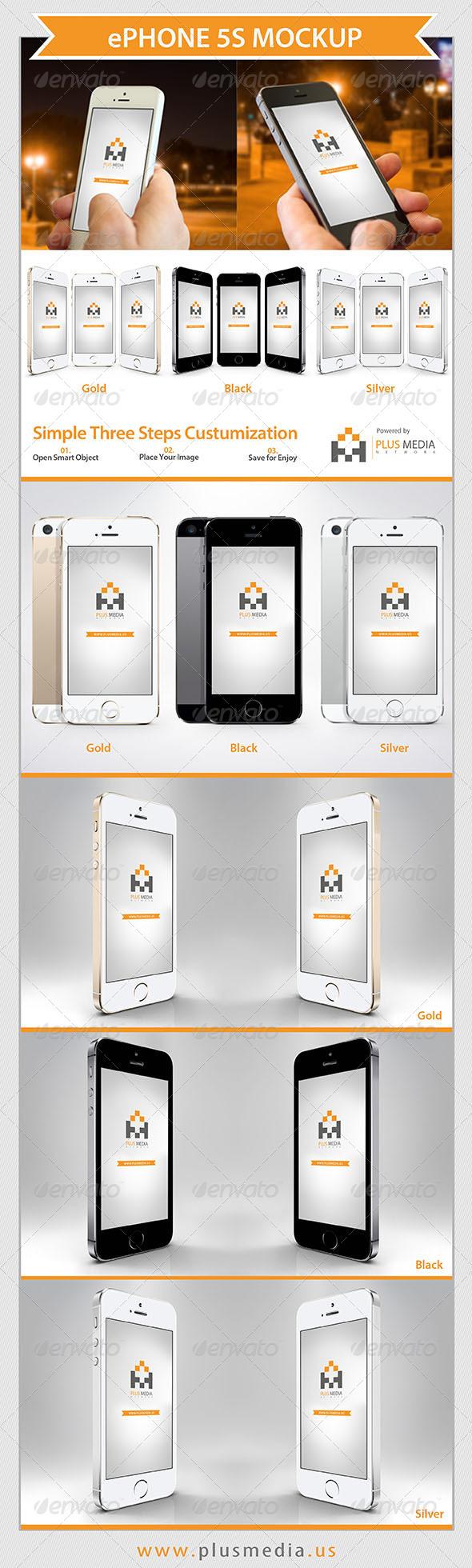 GraphicRiver ePhone 5S Mockup 6613092