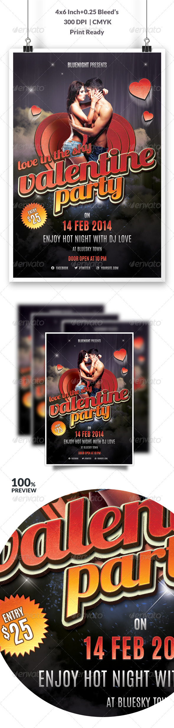 GraphicRiver Valentines Party Flyer Vol 2 6610924