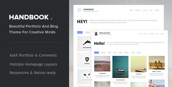 Handbook - Responsive AJAX WordPress Theme - Portfolio Creative