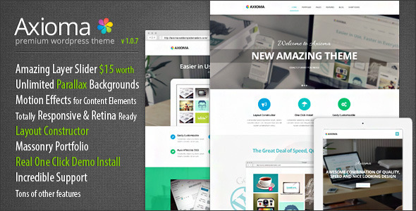 Axioma Premium Responsive WordPress Theme - Business Corporate