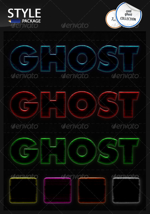 GraphicRiver Cool Ghost Styles 6621228