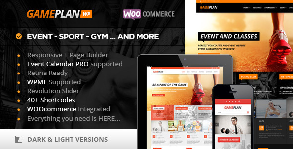Gameplan Event And Gym Fitness Wordpress Theme By