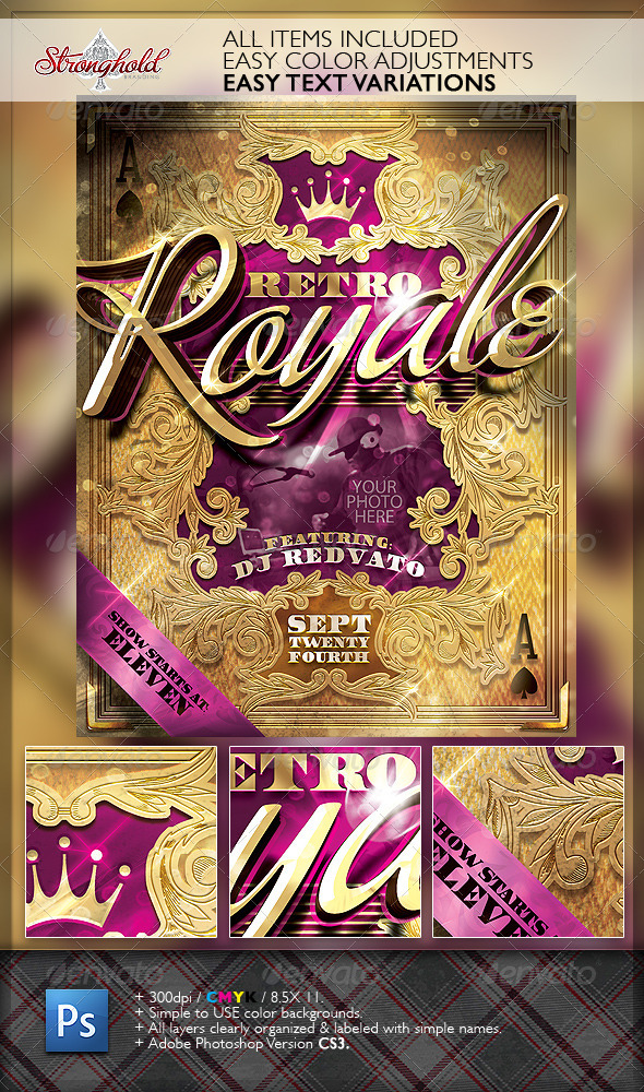 GraphicRiver Retro Royal Club Flyer Template 6621928