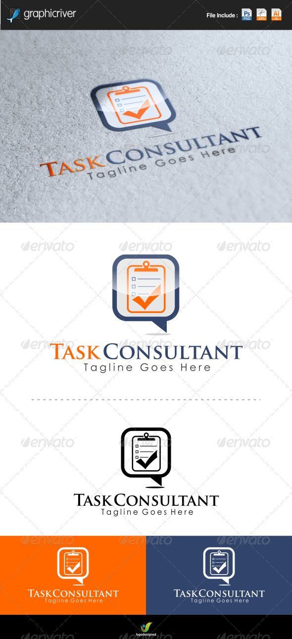 GraphicRiver Task Consulting Logo Template 6622817