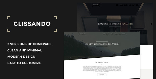 ThemeForest Glissando Creative Minimal Onepage PSD Template 6622929