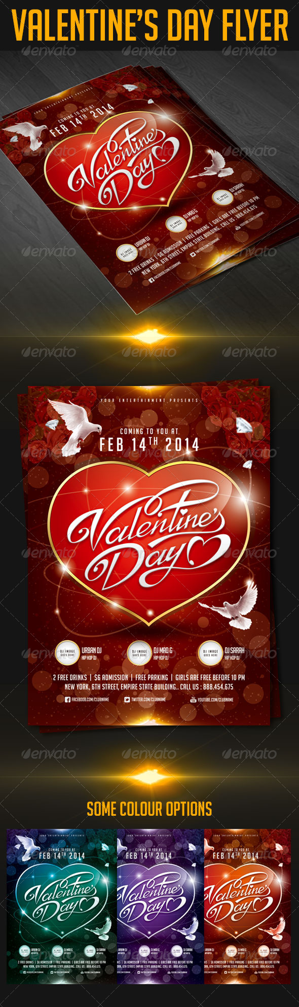 GraphicRiver Valentine s Day Flyer 6623483