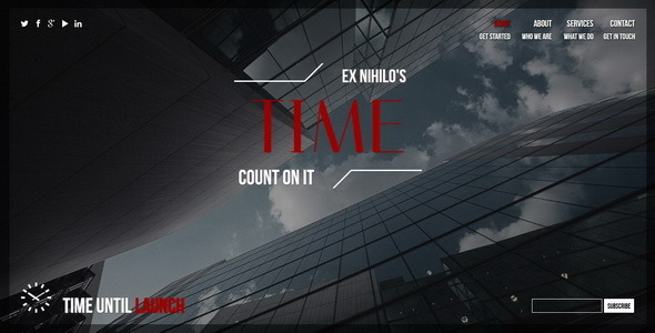 Time || Responsive Coming Soon Page - Under Construction Specialty Pages