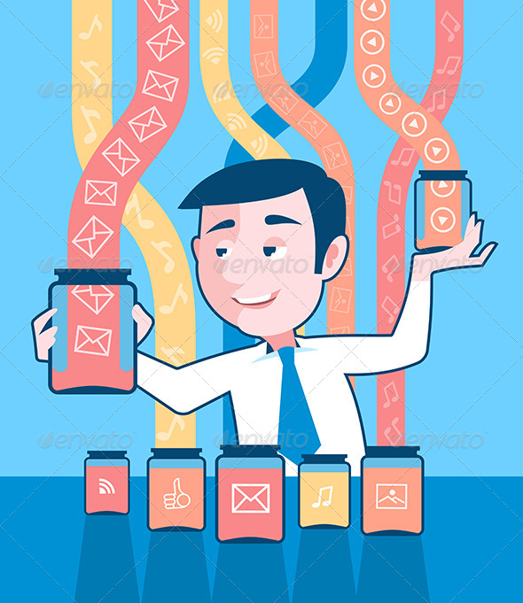 GraphicRiver Man Gathering Data 6623981