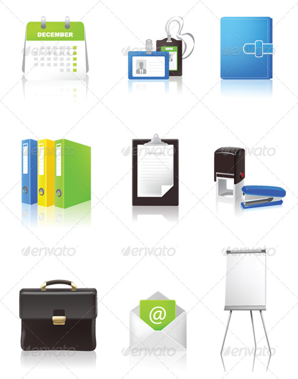 GraphicRiver Office and Business Icons 6624427