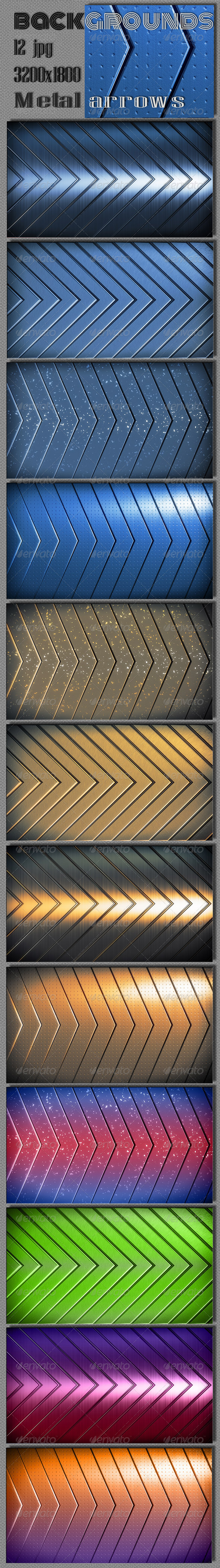 GraphicRiver Techno Metal Arrows Backgrounds 6624842