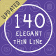 140 Elegant Thin Line Icons - GraphicRiver Item for Sale