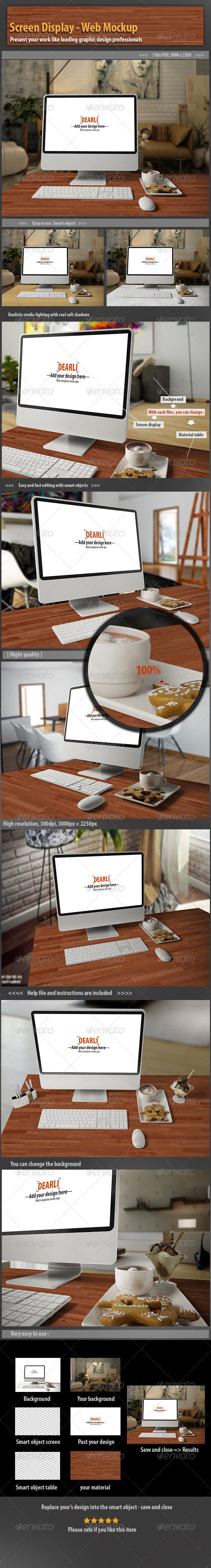 GraphicRiver Screen Display- Web Mockup 6626045