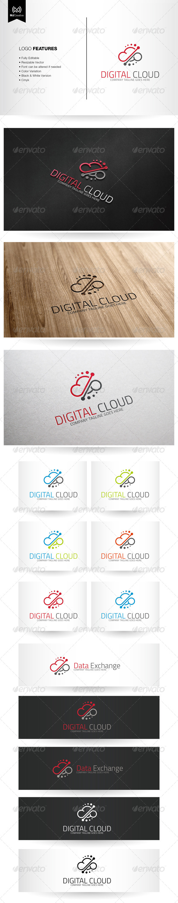 GraphicRiver Digital Cloud Logo 6626677