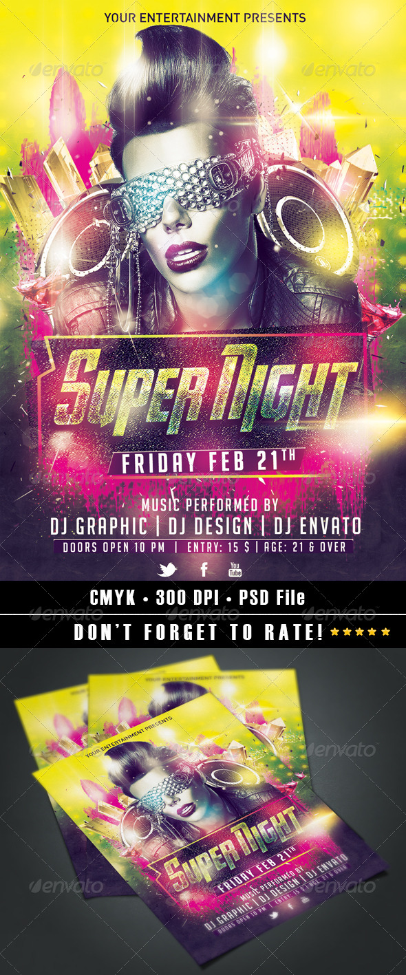 Super Night Flyer - Clubs & Parties Events
