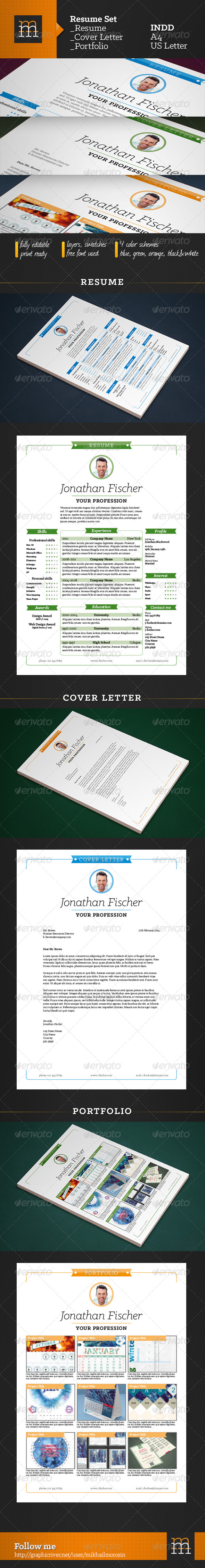 GraphicRiver Resume Set 6627113