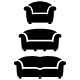 black furniture icon set - GraphicRiver Item for Sale