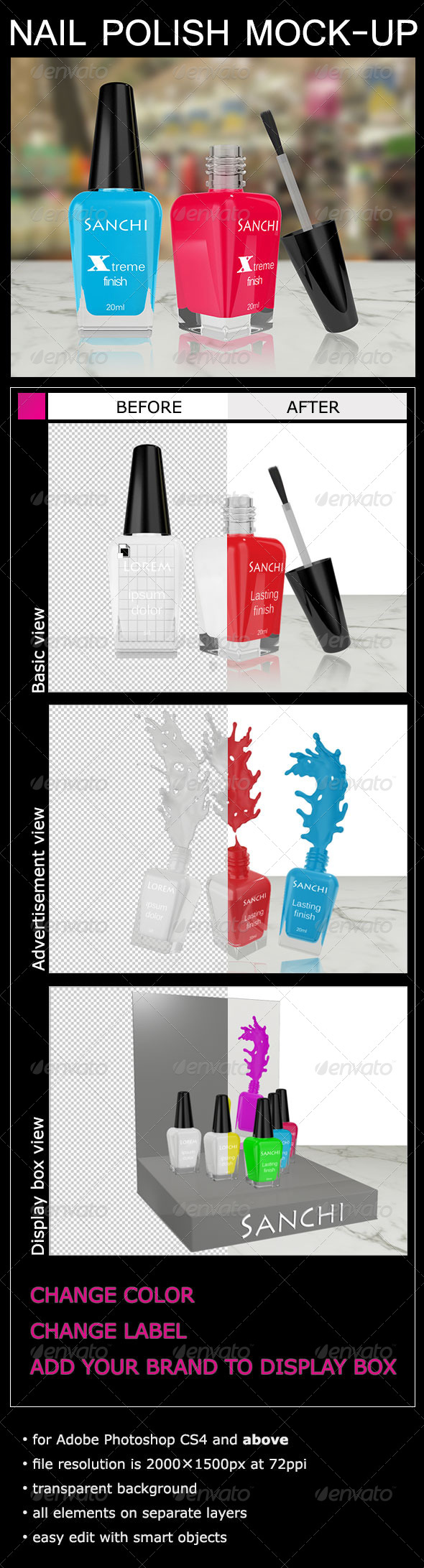 GraphicRiver Nail Polish Mock-Up 6629172