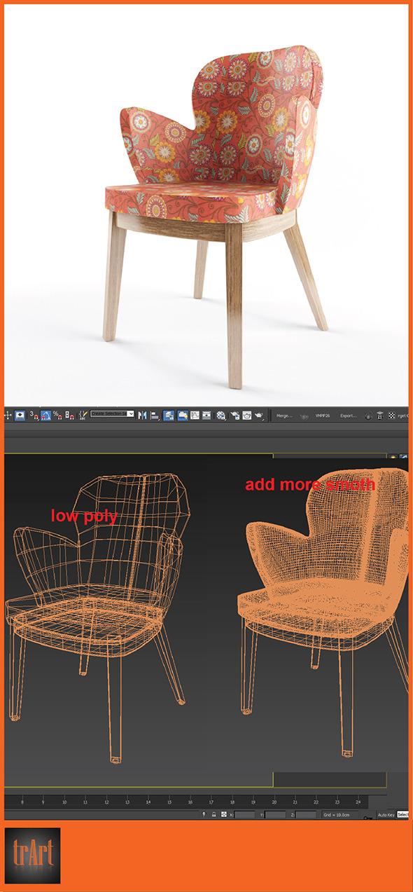 3DOcean Realistic ArmChair 6629219