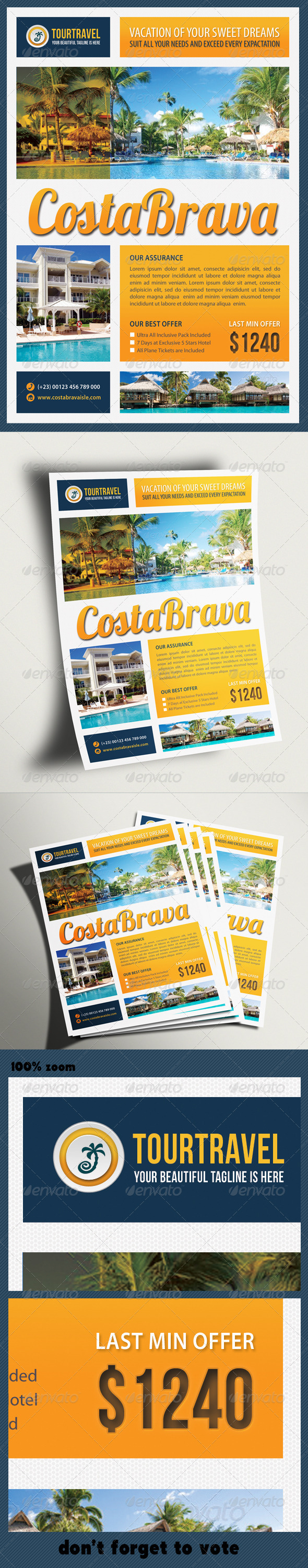 GraphicRiver Travel Agency Corporate Flyer 03 6629521