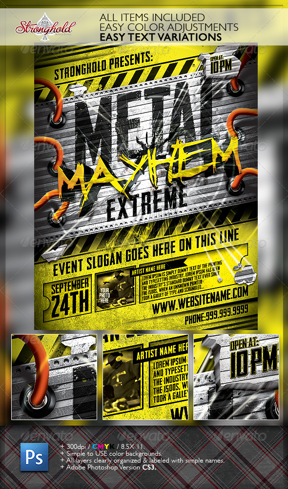 GraphicRiver Metal Mayhem Extreme Flyer Template 6630003