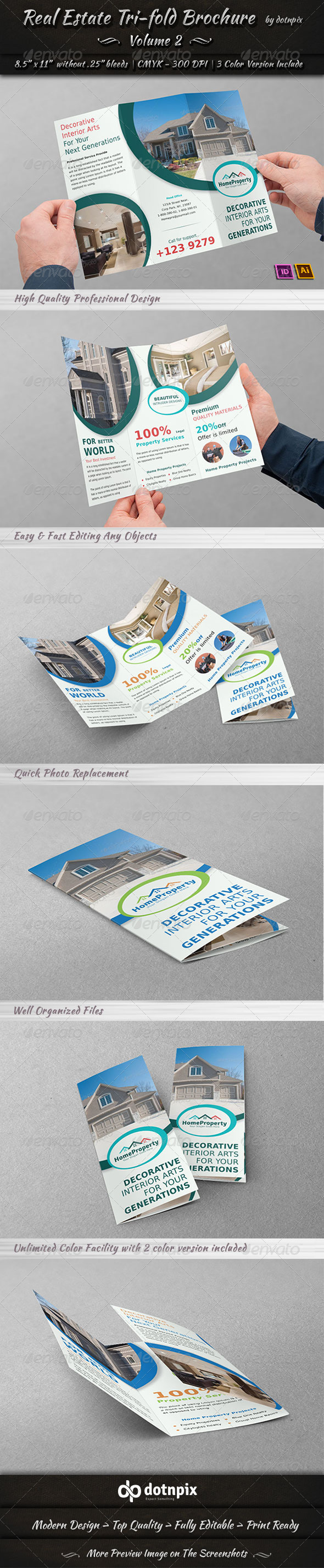 GraphicRiver Real Estate Business TriFold Brochure Volume 2 6632376