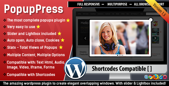 PopupPress - Popups with Slider & Lightbox for WP - CodeCanyon Item for Sale