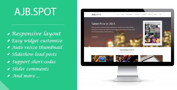 ThemeForest Ajbspot Responsive MultiPurpose Blogger Template 6620616
