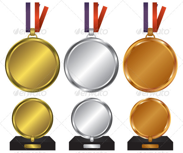 GraphicRiver Three Medals for the Winners 6634126