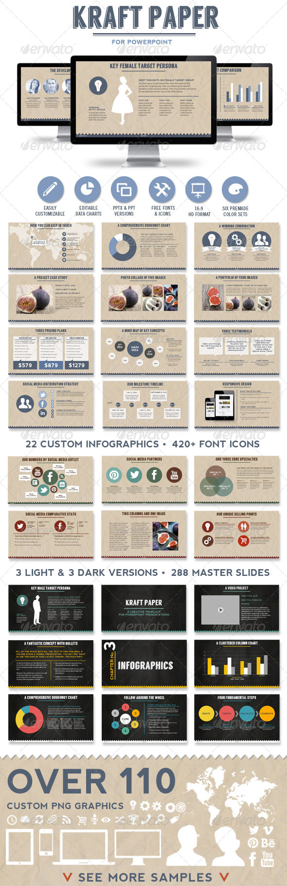 GraphicRiver Kraft Paper Powerpoint Presentation Template 6634372