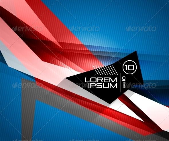 GraphicRiver Futuristic Glossy Lines 6634873