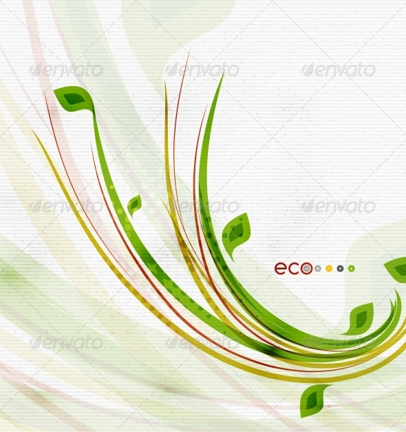 GraphicRiver Green Eco Nature Minimal Floral Concept 6634880