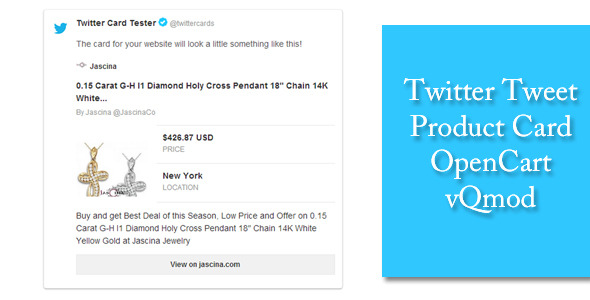 CodeCanyon Twitter Tweet Product Card OpenCart vQmod 6634967