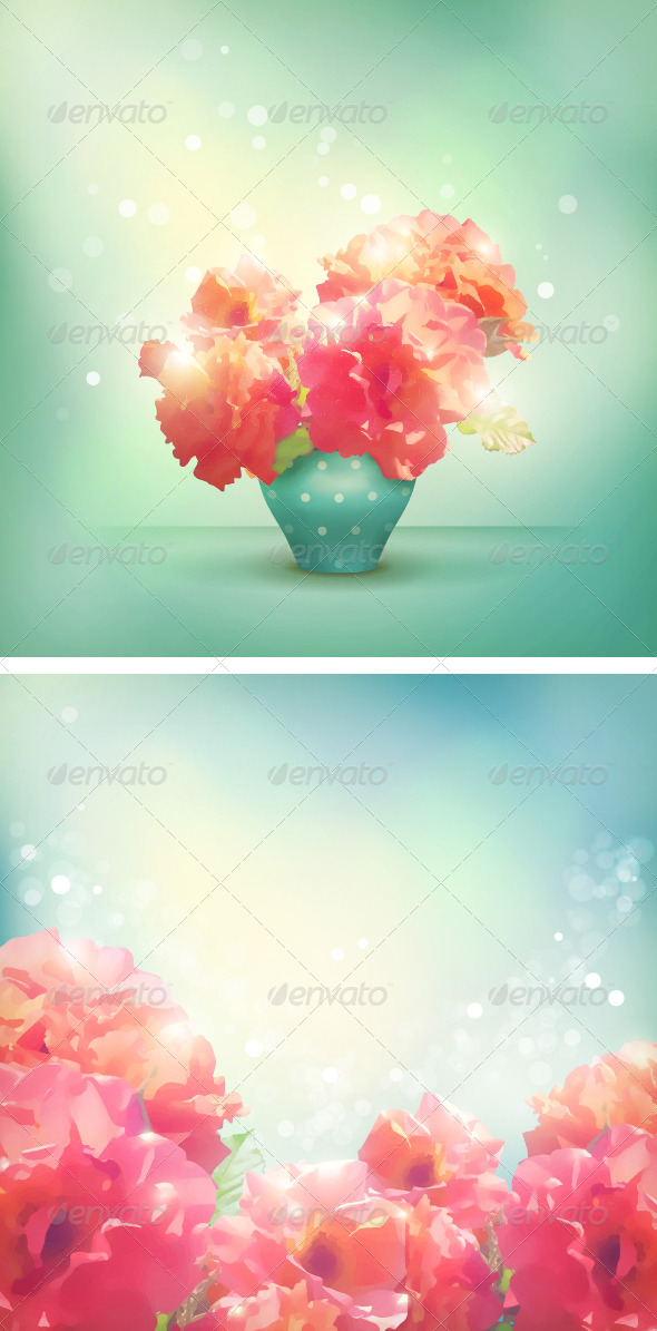 GraphicRiver Romantic vector floral background 6634968