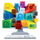 Social Network Concept Desktop Computer - GraphicRiver Item for Sale