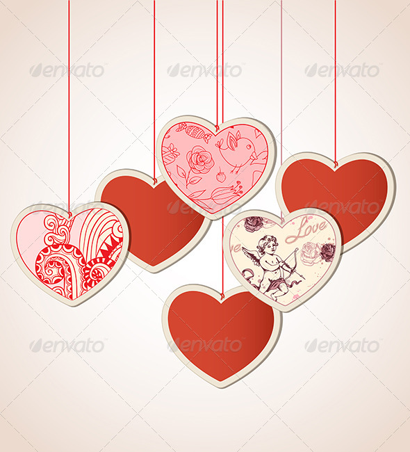 GraphicRiver Decorative Background with Hearts 6635141