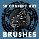 Concept Art Brushes, Textures, Particles and more - GraphicRiver Item for Sale