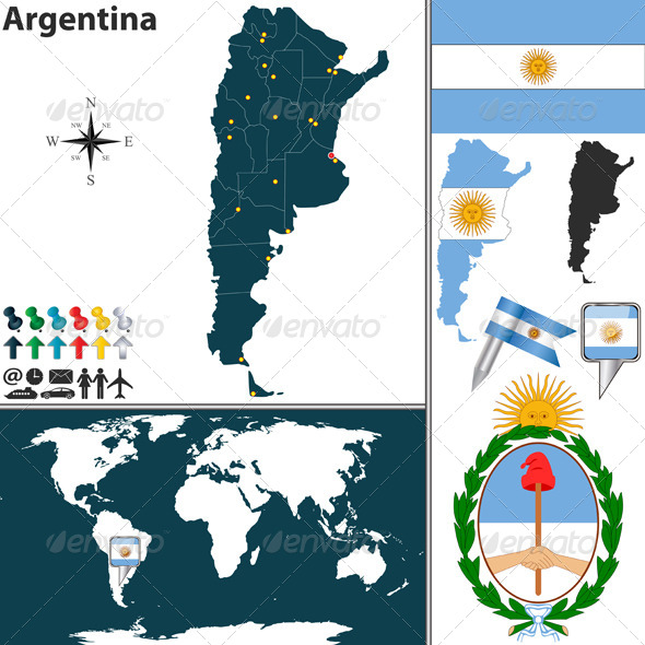 GraphicRiver Map of Argentina 6636255