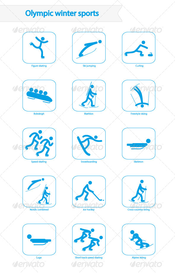 GraphicRiver Winter Olympic Sports Icons 6636573