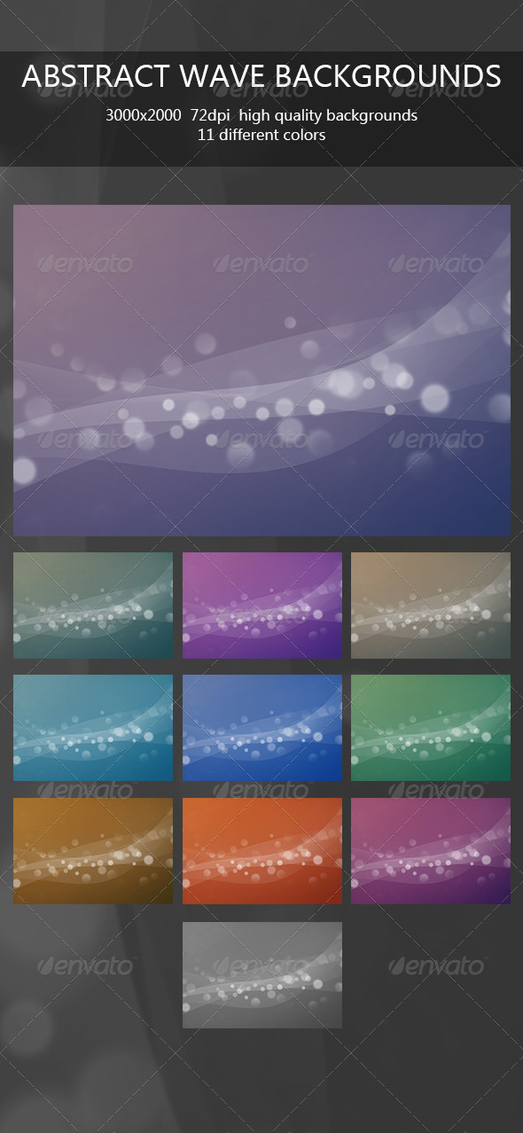 GraphicRiver Abstract Wave Backgrounds 6636790