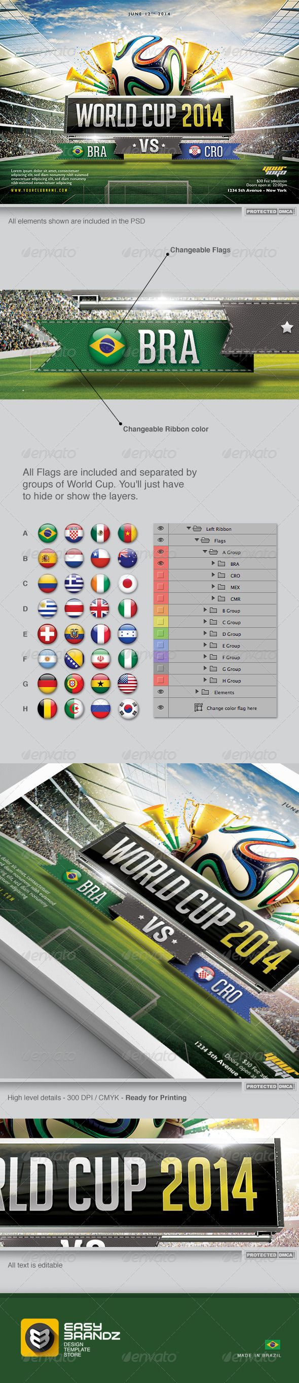 GraphicRiver World Cup 2014 Flyer Template 6637091