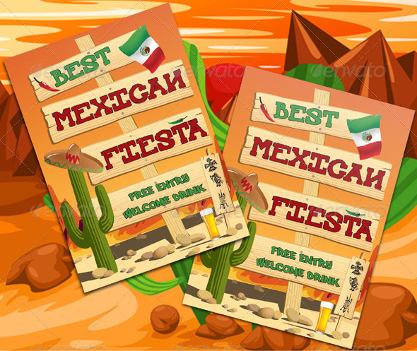 GraphicRiver Mexican Fiesta Flyer Template 6637176