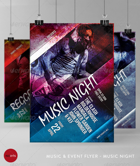 Music & Event Flyer - Music Night - Clubs & Parties Events