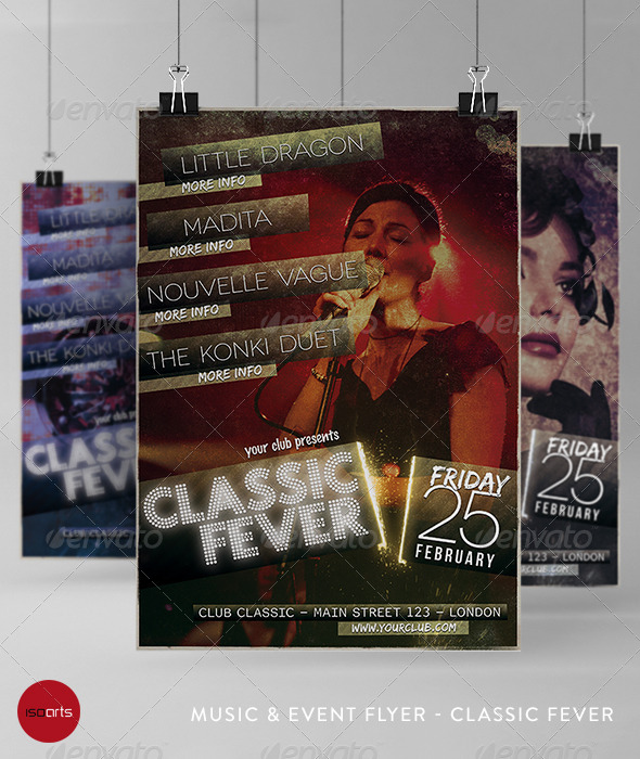 Music & Event Flyer - Classic Fever - Clubs & Parties Events