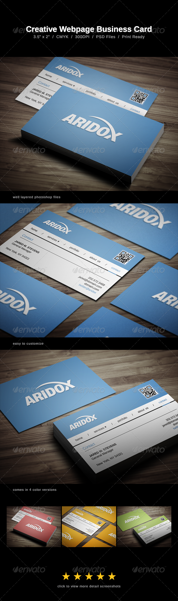 GraphicRiver Creative Webpage Business Card 6637957