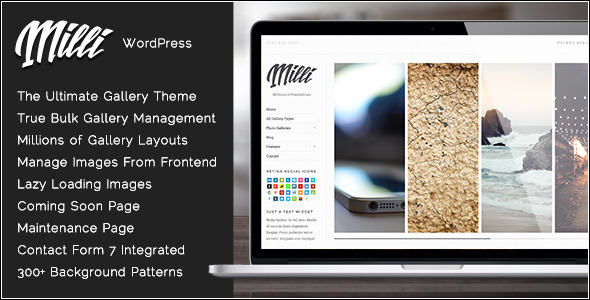 Milli - The Ultimate Photo Gallery WordPress Theme - Photography Creative