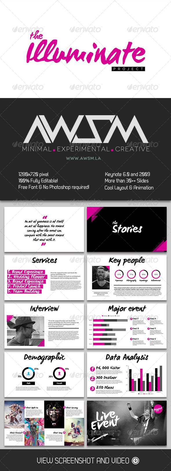 GraphicRiver Illuminate Keynote Template 6638955