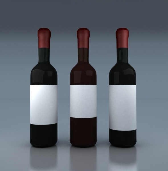 3DOcean Wine Bottles 6639515
