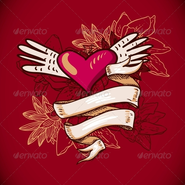 GraphicRiver Hearts and Flowers Vector Illustration 6639564